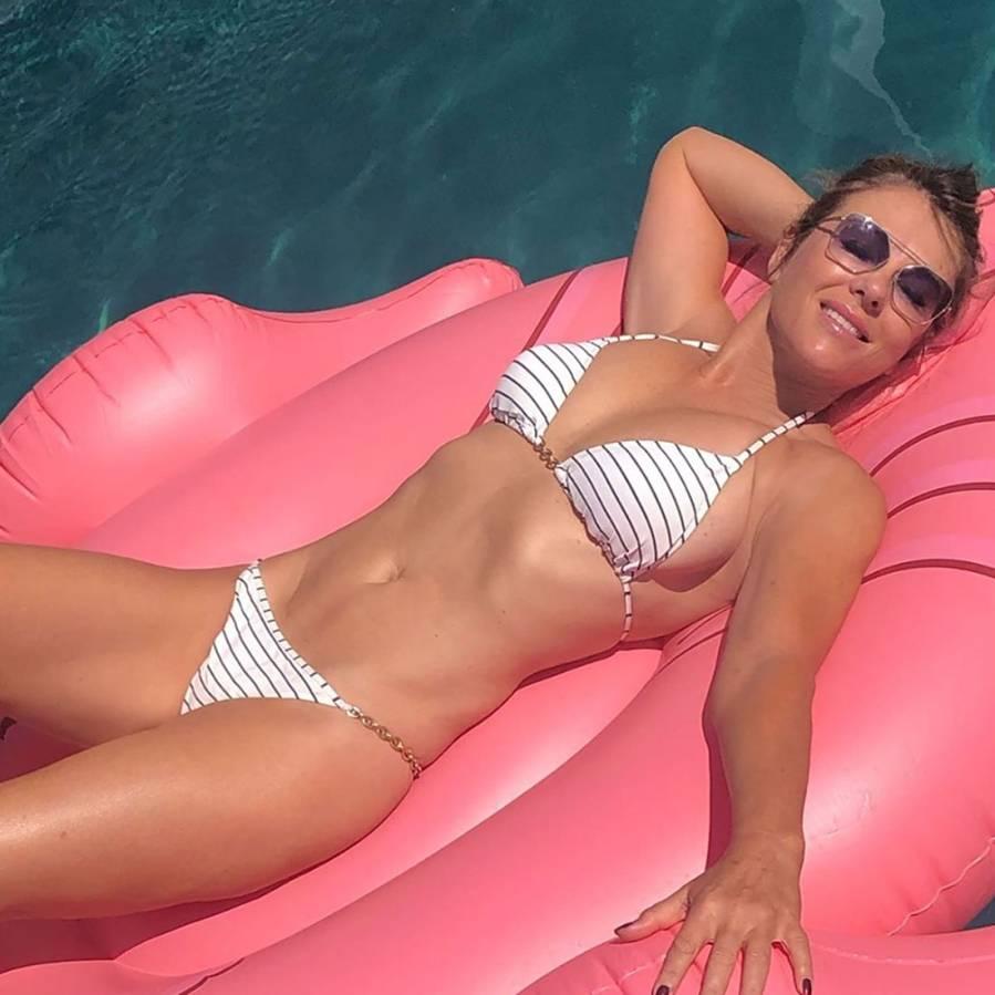 Elizabeth Hurley Bikini Instagram August 22, 2019