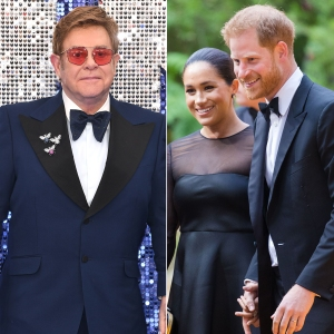 Elton John Defends Prince Harry and Duchess Meghan's Private Jet Use