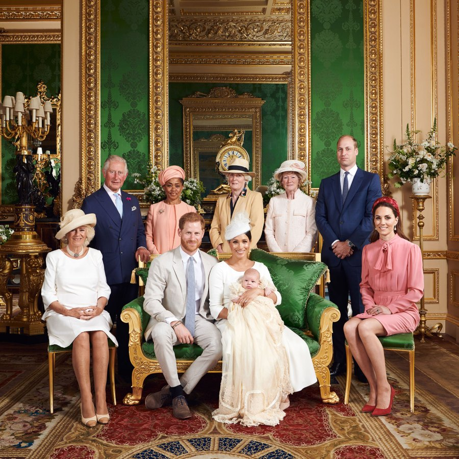 Younger Royals Honored Princess Diana Family Photo Archie Christening