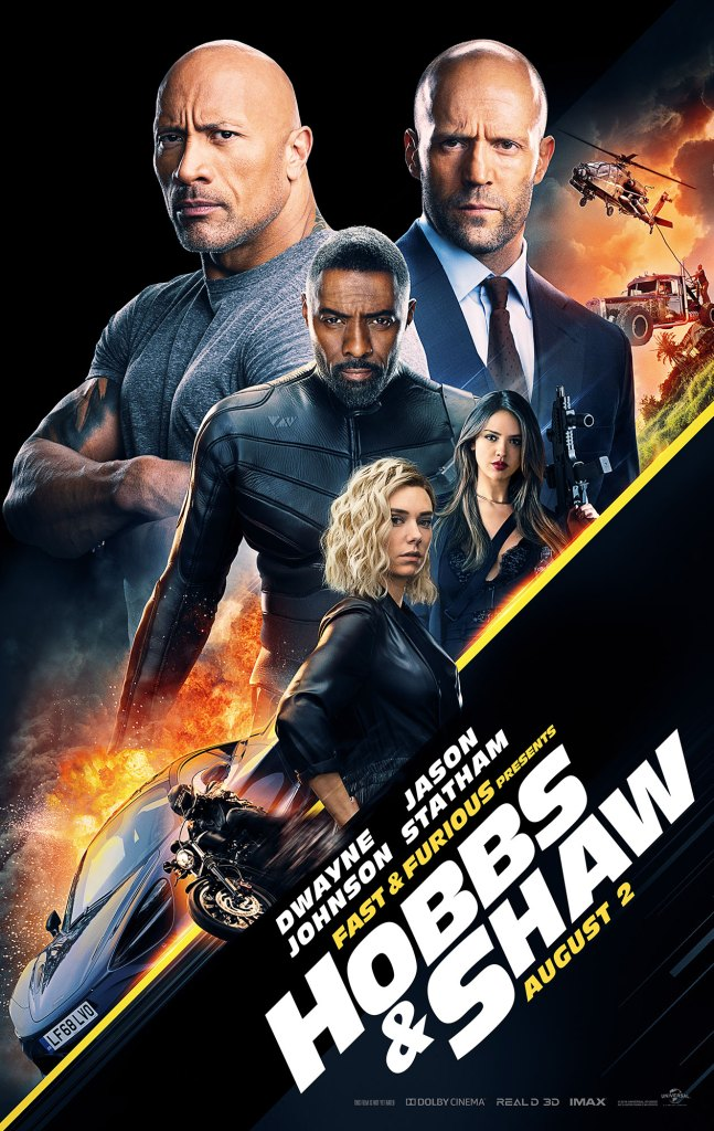 Fast Furious Presents Hobbs Shaw Movie Poster One Sheet Dwayne Johnson Jason Statham