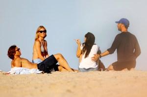 Gwyneth and Brad Hit the Beach With Chris and Dakota