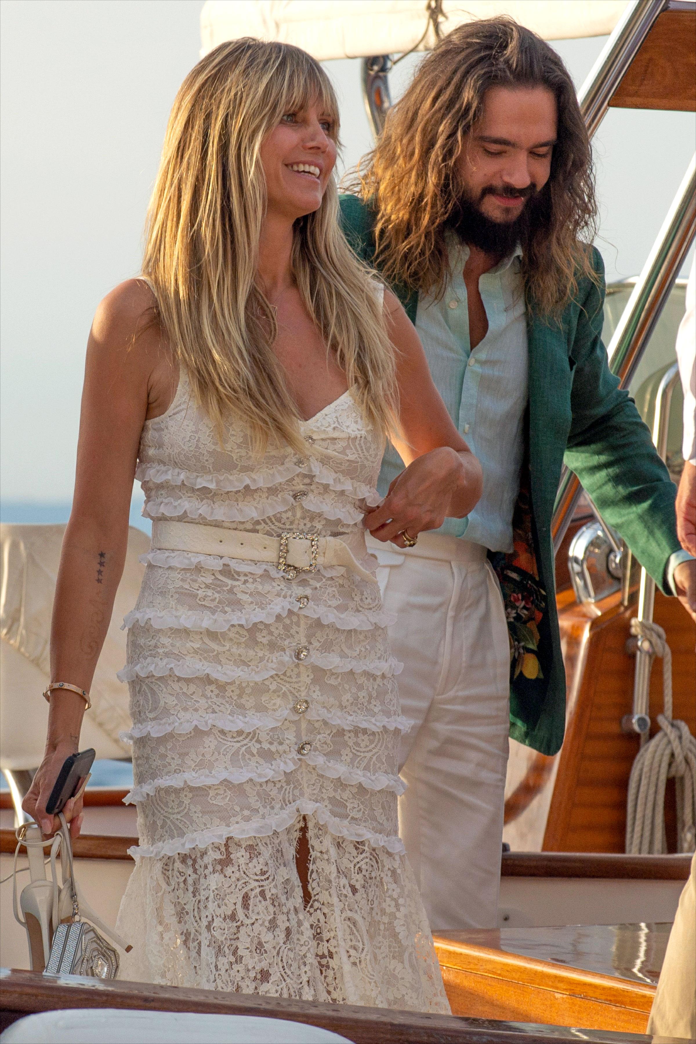Heidi Klum Marries Tom Kaulitz For The Second Time In Capri Photos