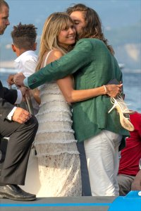 Heidi Klum and husband Tom Kaulitz seemingly celebrate festivities leading up to their second wedding ceremony in Capri, Italy