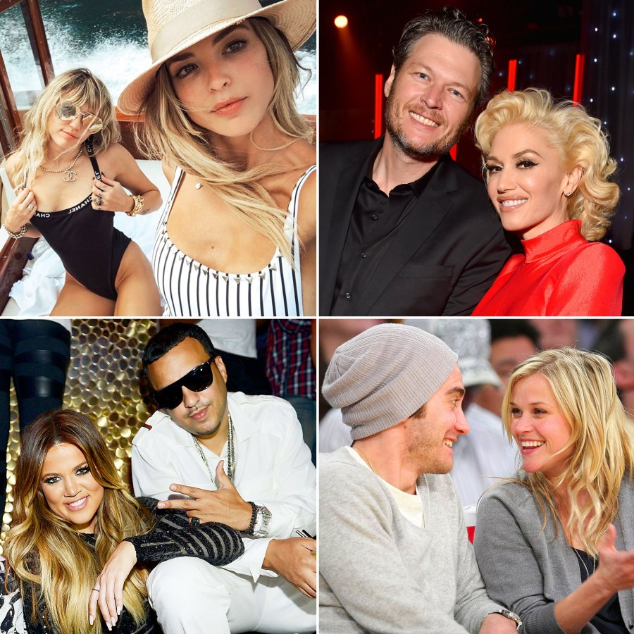 Hot Rebound Romances Miley Cyrus and Kaitlynn Carter Blake Shelton and Gwen Stefani Jake Gyllenhaal and Reese Witherspoon Khloe Kardashian and French Montana