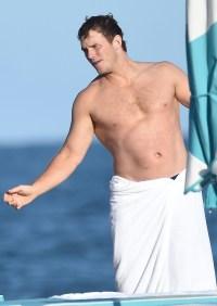 Chris Pratt Santa Barbara Beach Trip