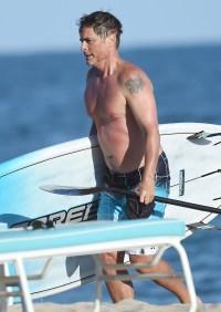 Rob Lowe Santa Barbara Beach Trip