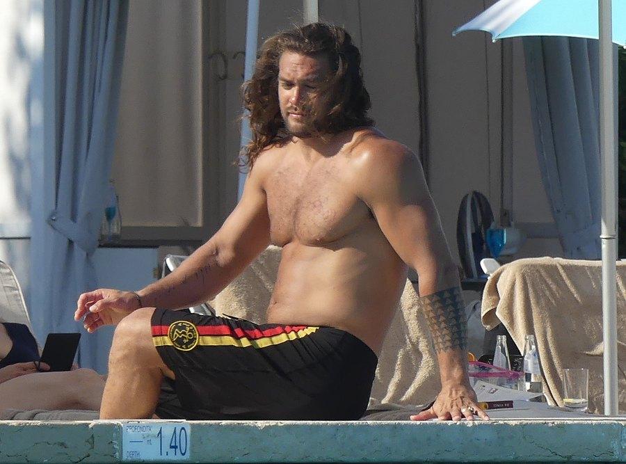 Jason Momoa Shirtless Italy