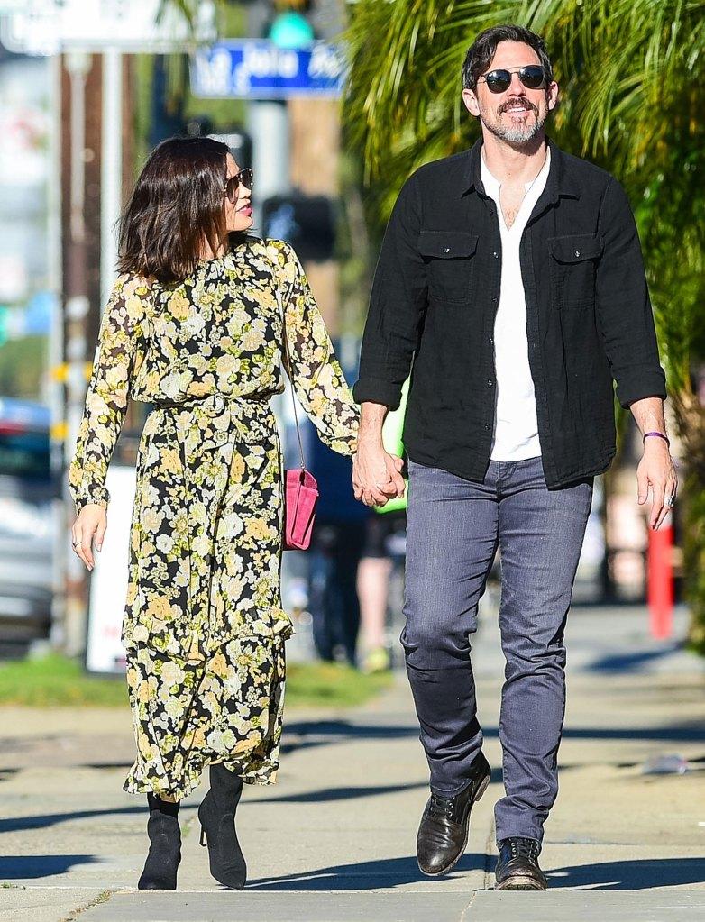 Jenna Dewan and Steve Kazee Walking On Street