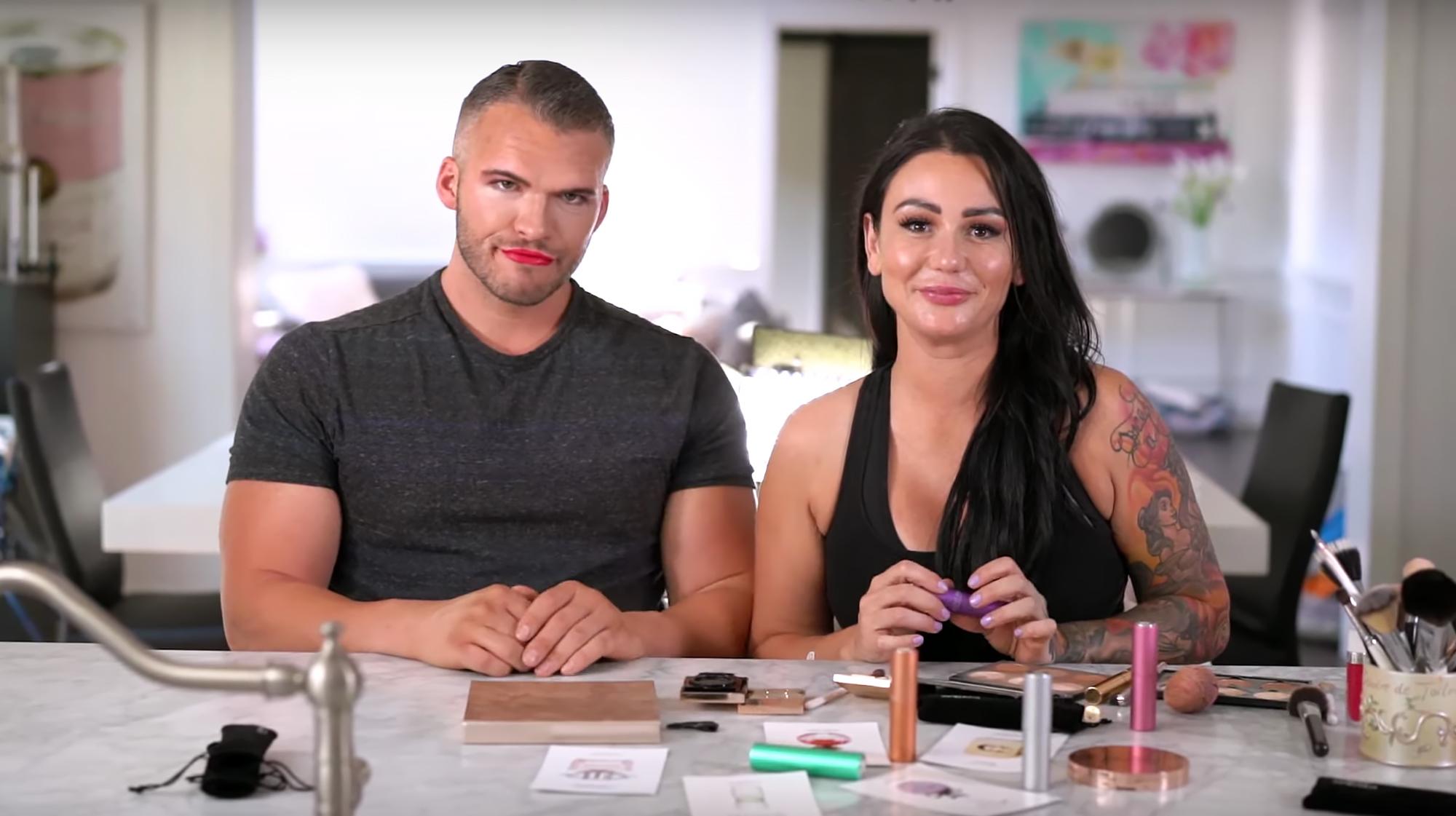 Jenni-'JWoww'-Farley-Does-Boyfriend-Makeup-Challenge-on-Zack-Carpinello
