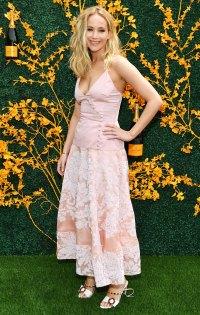 Jennifer Lawrence Pink Dress June 1, 2019
