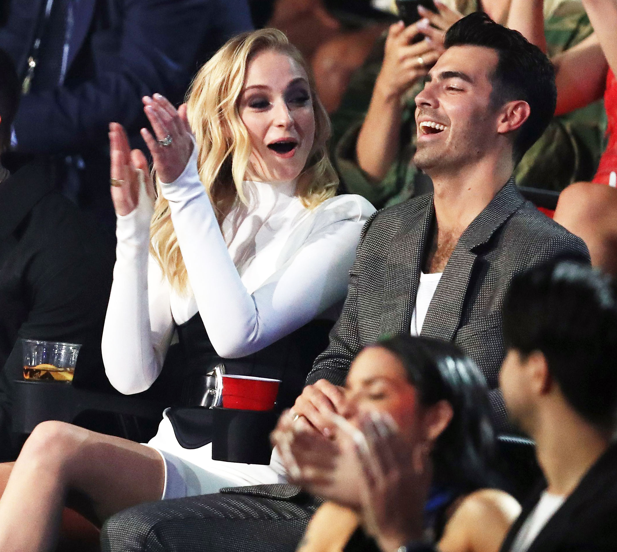 Joe Jonas and Sophie Turner Were Desperately Waiting for Shawn Mendes and Camila Cabello to Kiss During VMAs 2019 Performance