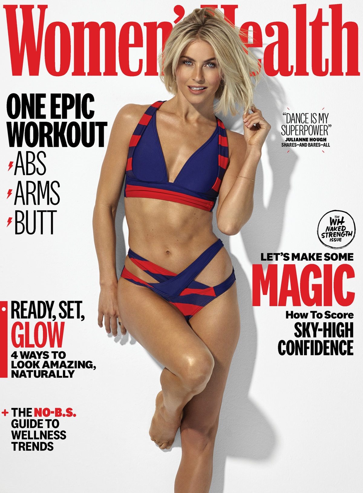 All Nude Image julianne hough nude on women's health cover: 'naked strength