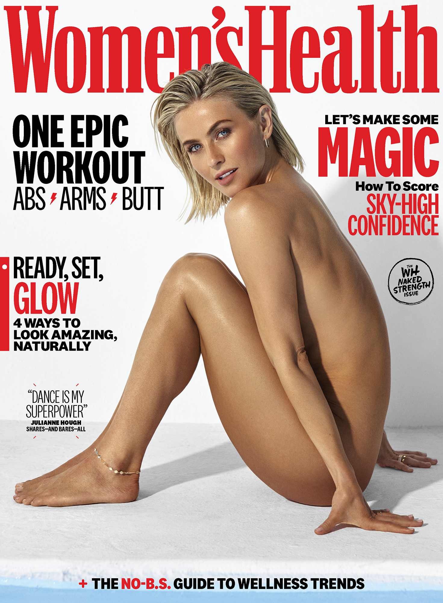 Jeana Smith Naked julianne hough nude on women's health cover: 'naked strength