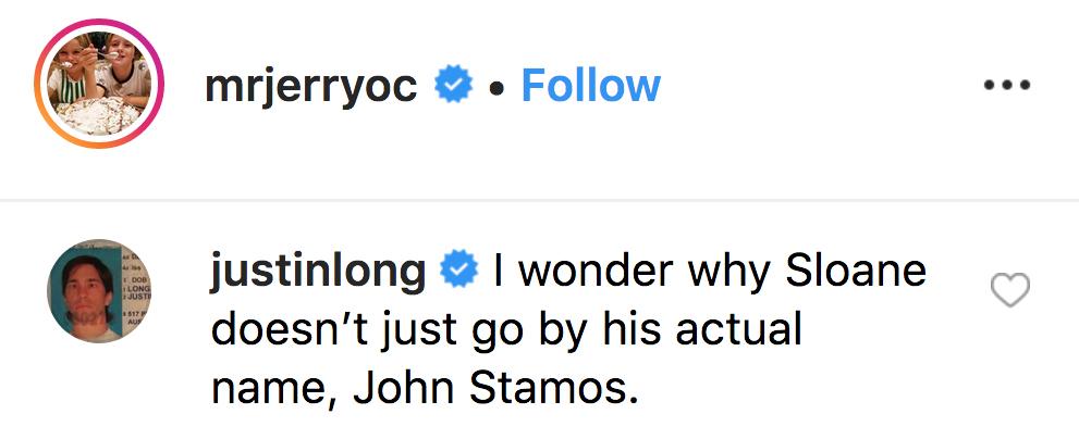 Justin Long Jokes John Stamos Is Trolling Ex-Wife Rebecca Romijn
