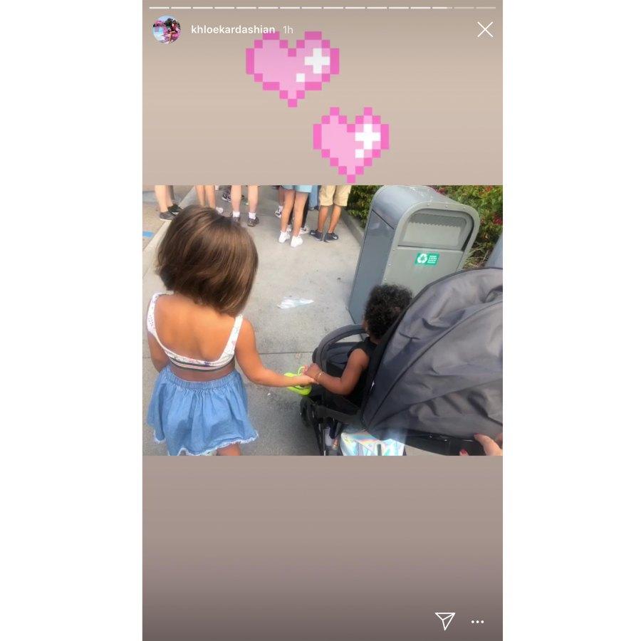Kardashian Kids Penelope and True Hold Hands