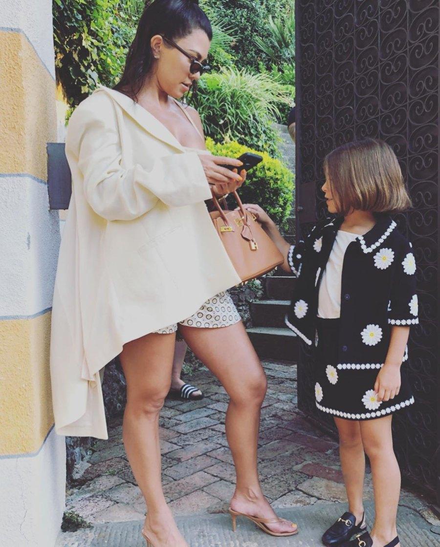 Kardashian Kids in Portofino Kourtney and Penelope