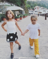 Kardashian Kids in Portofino Penelope and Reign