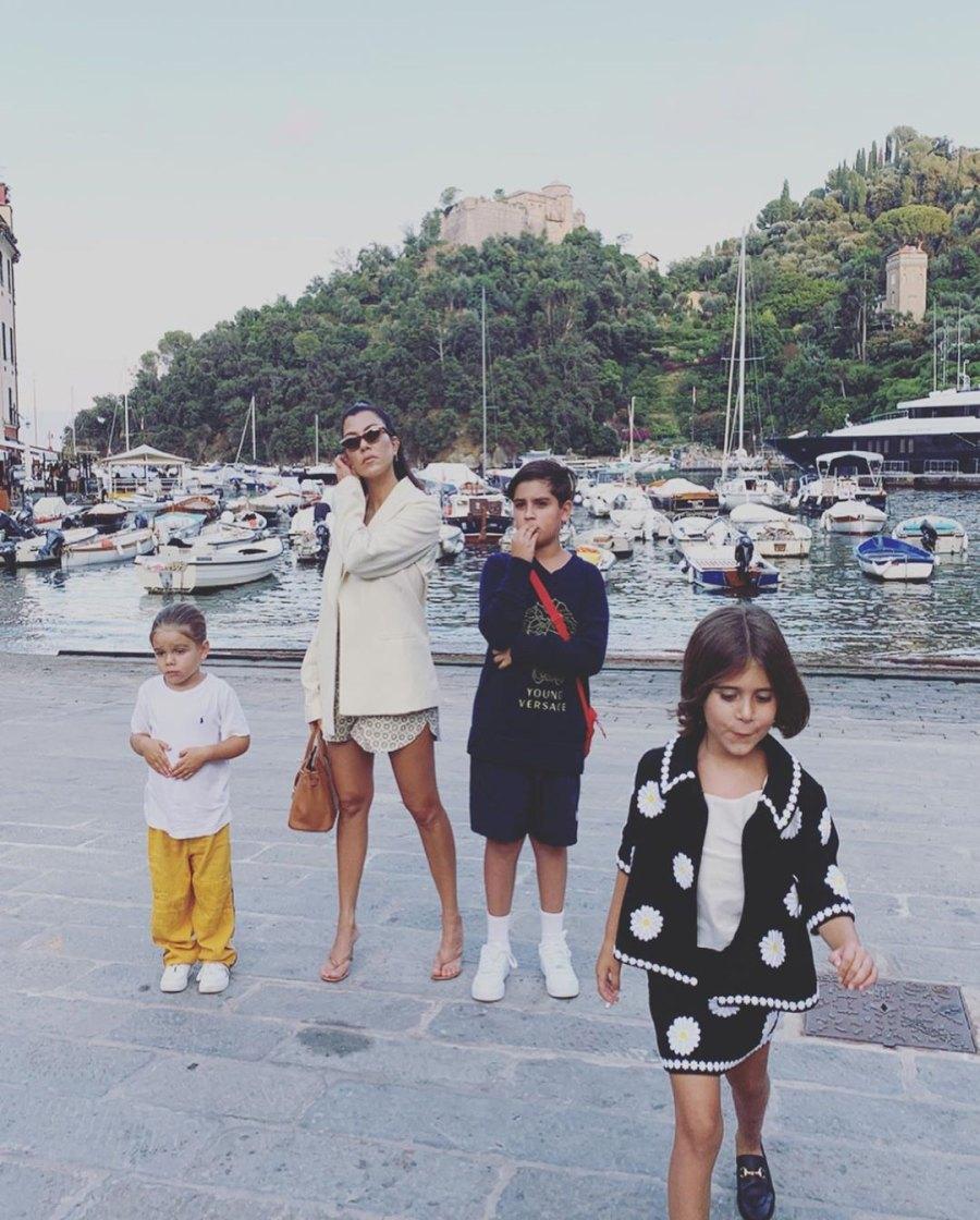 Kardashian Kids in Portofino Kourtney Reign Mason Penelope
