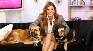 Kate Walsh With Her Dogs