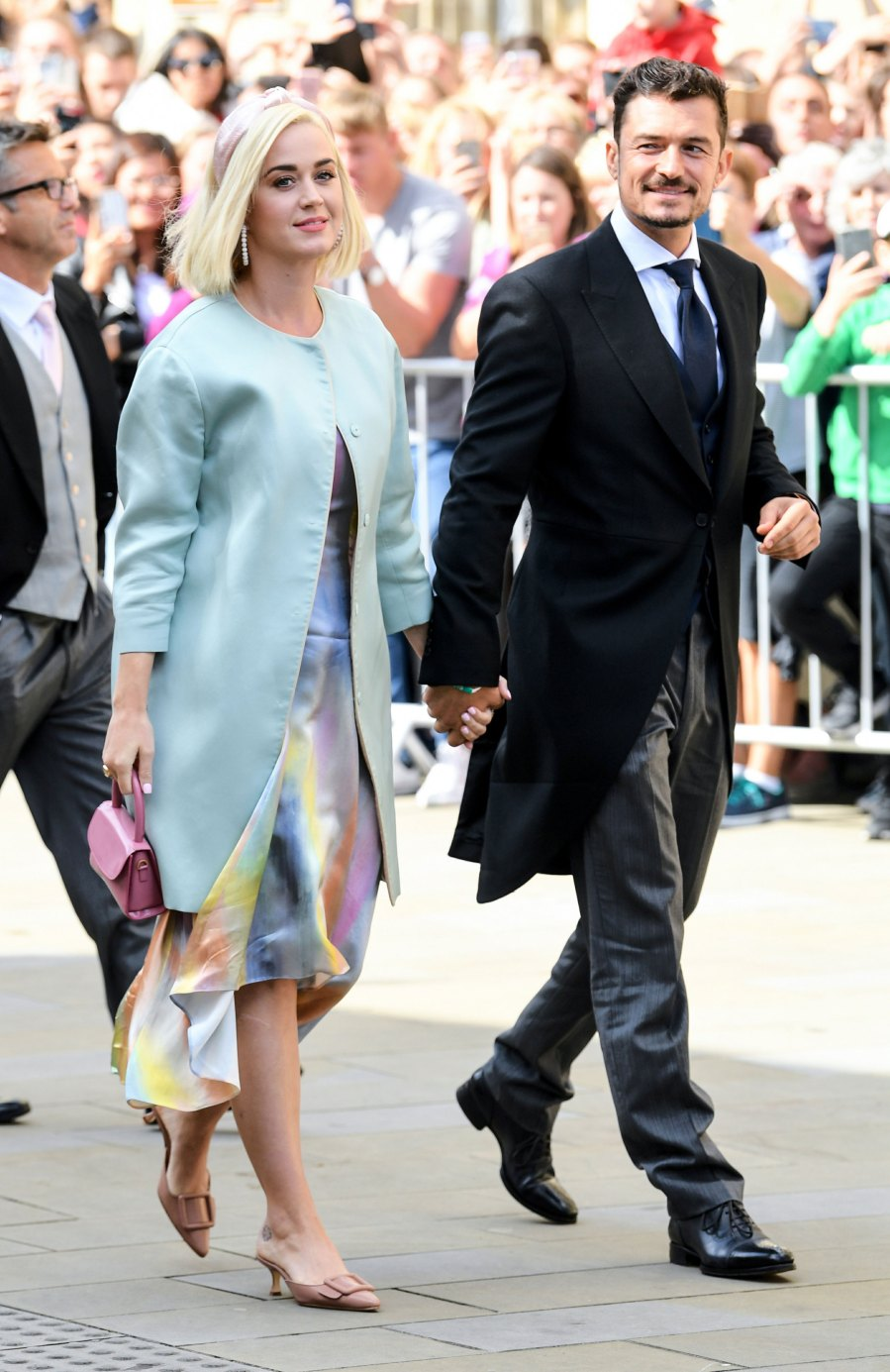 Katy Perry, Orlando Bloom Katy Perry, Orlando Bloom, Princess Beatrice and More Celebrity Guests Attend Ellie Goulding's Wedding