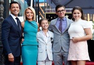 Kelly Ripa, Mark Consuelos and Family October 12, 2015