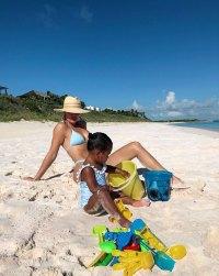 Khloe Kardashian and True On The Beach Sand Water Beach Toys True's Album