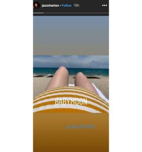 Kieran Culkin Jazz Charton Babymoon Instagram Story