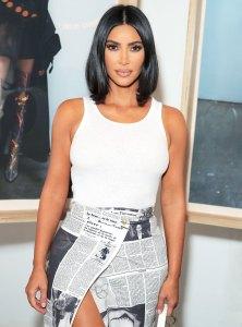 Kim Kardashian White Sleevelesss Top June 11, 2019