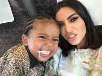 Saint West Kim Kardashian Funny Faces
