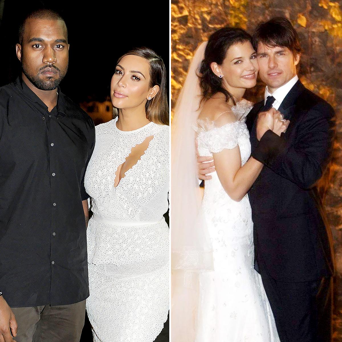 Kim-Kardashian-and-Kanye-West-and-Tom-Cruise-and-Katie-Holmes-weddings