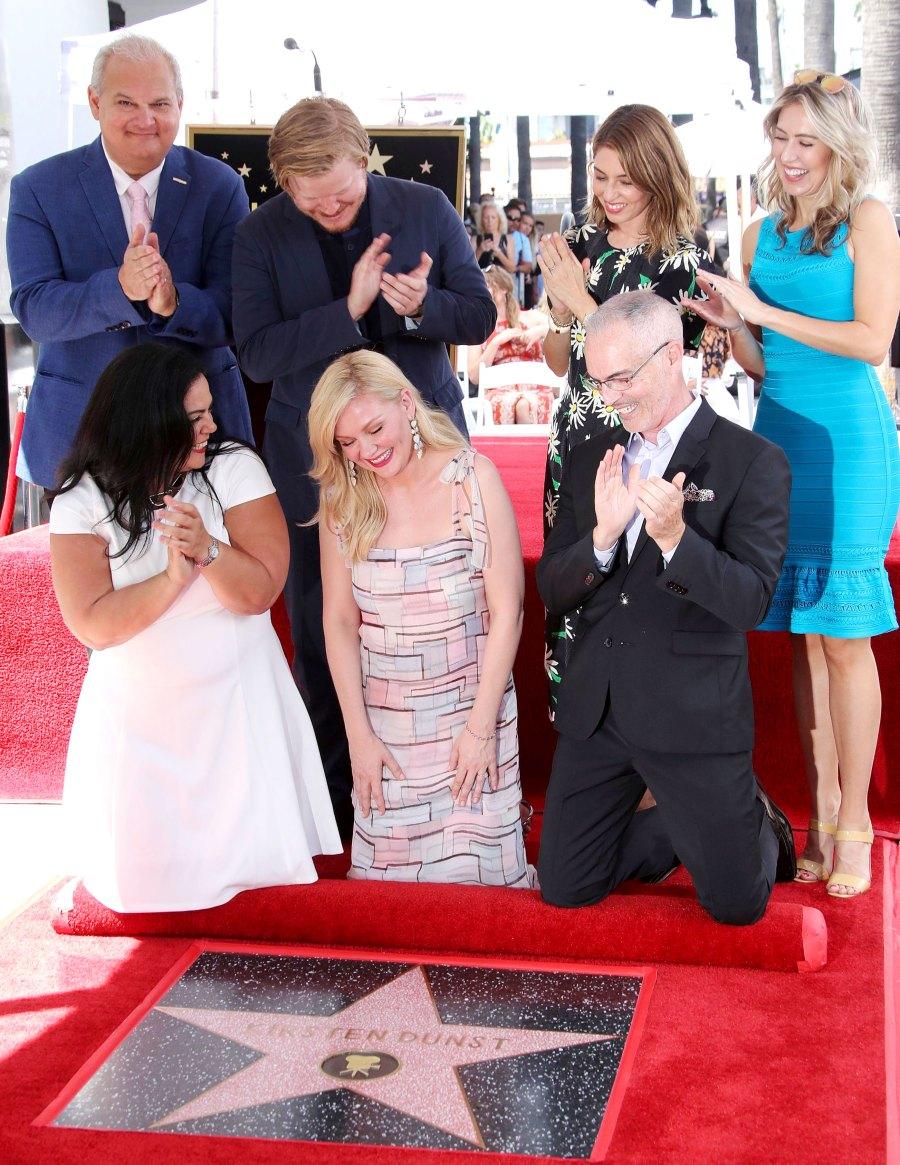Kirsten Dunst Jesse Plemmons Introduce Son Ennis Walk of Fame Ceremony
