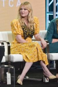 Kirsten Dunst Yellow Dress TCA Tour