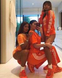 Kylie Jenner Adidas Orange Outfit Selfie Instagram