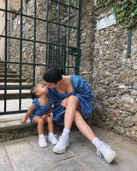 Kylie Jenner and Stormi Webster Italy vacation August 2019