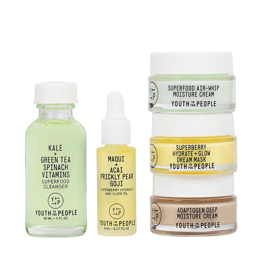 Labor Day Weekend Mini Beauty Products - Youth to the People Mini Skin Care Set