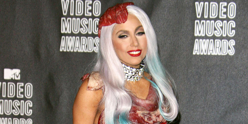 Lady Gaga's Craziest VMA Looks of All Time, Including Her Unforgettable Meat Dress, Jo Calderone Transformation and More