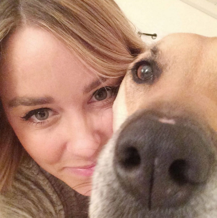 Lauren Conrad Pays Tribute to Late Dog Instagram Selfie
