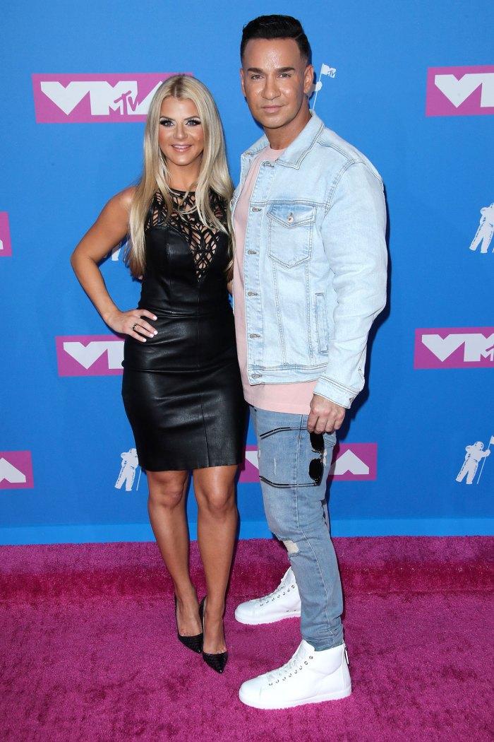 Lauren Pesce and Michael Sorrentino Red Carpet VMA