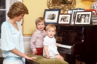 Younger Royals Honored Princess Diana Diana Princess of Wales, Prince William Duke of Cambridge, Prince Harry of Wales