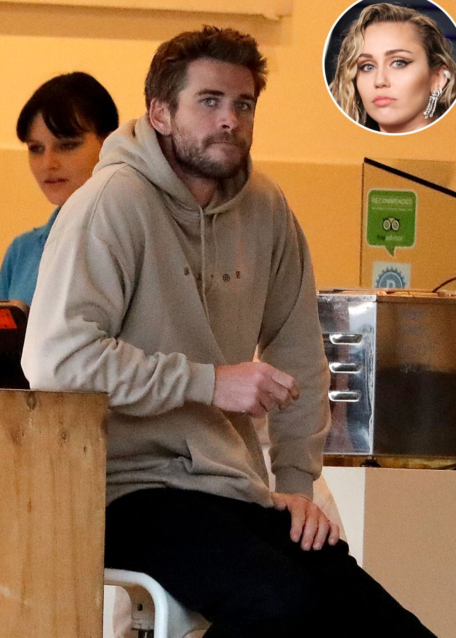 Liam Hemsworth Wearing a Grey Hoodie Breaks Silence After Miley Cyrus