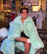 Mason Disick Furry Blue Coat