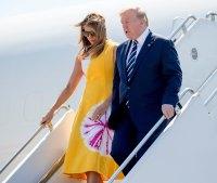 Melania Trump Yellow Dress August 24, 2019