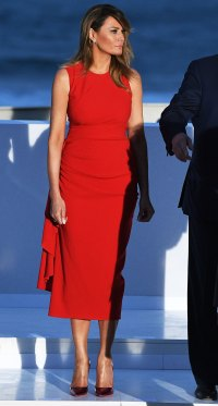 Melania Trump Red Dress August 25, 2019
