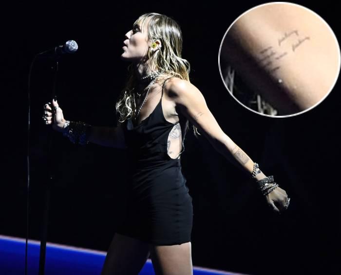 Miley Cyrus New Tattoo Debut VMAS 2019