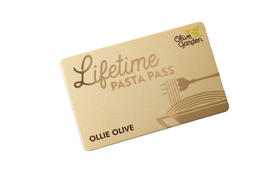 Olive Garden's New Lifetime Pasta Pass