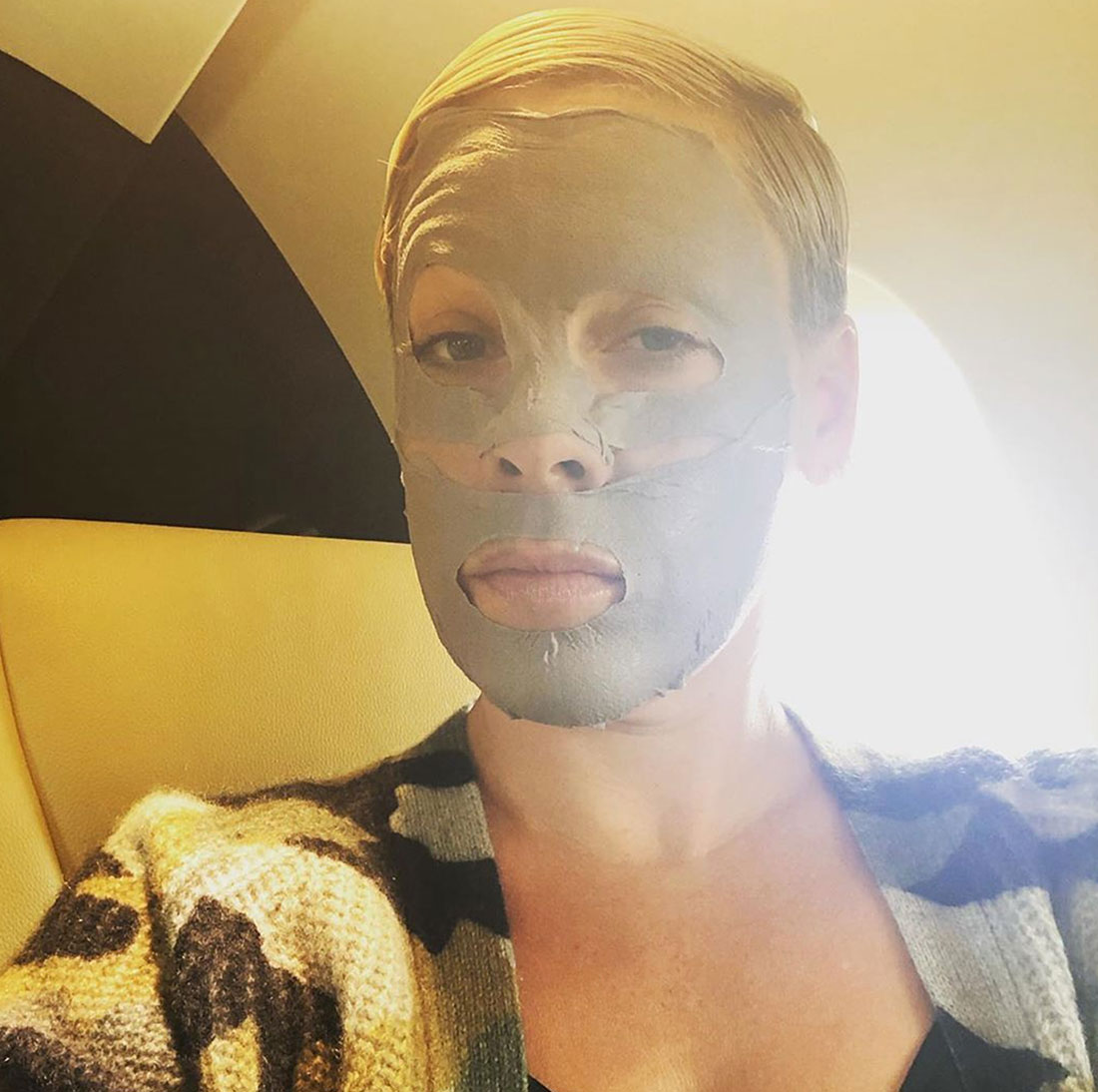 Stars in Beauty Masks: Photos