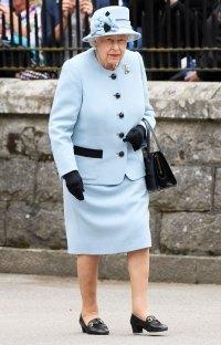 Queen Elizabeth Blue Dress August 6, 2019