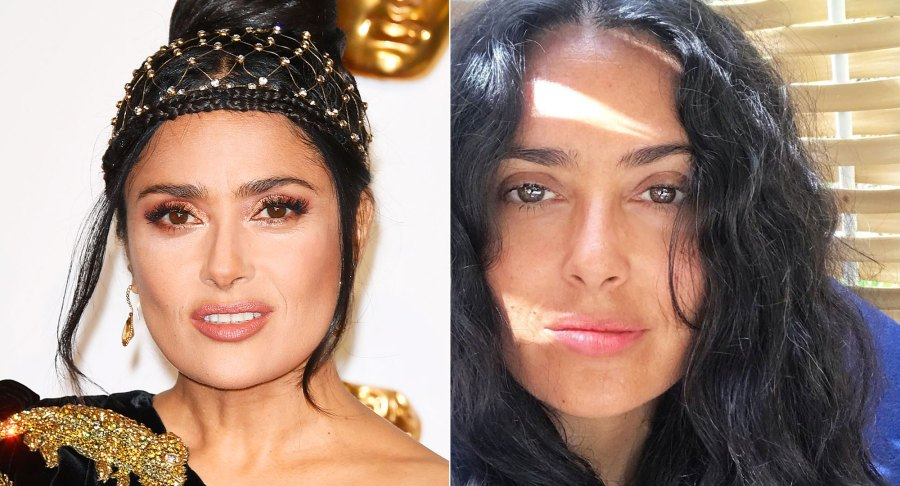 Salma Hayek Makeup Free Instagram August 21, 2019