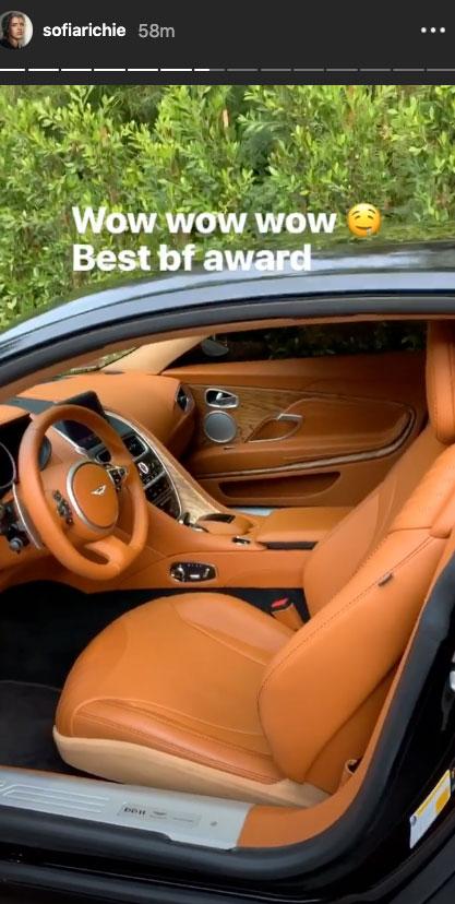 Scott Disick Gifts Girlfriend Sofia Richie a Lavish Aston Martin for Her 21st Birthday