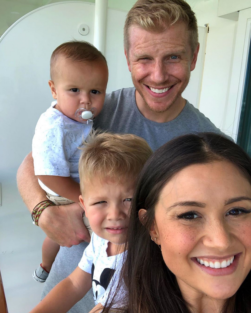 Sean-Lowe,-Catherine-Giudici-Take-Disney-Cruise-With-Sons
